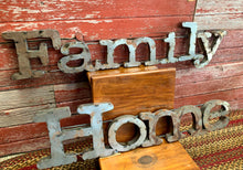 Hand Welded Metal Family Sign