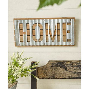 "Metal ""HOME"" Sign"