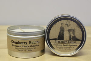 CRANBERRY BELLINI: 6.5OZ TIN CANDLE-NEW