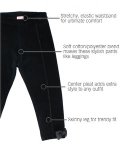Black Velour Ponte Pants