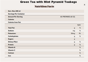 Wadmalaw Island Green Tea Mint Pyramid Bags