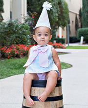 Aqua Stripe Birthday Hat