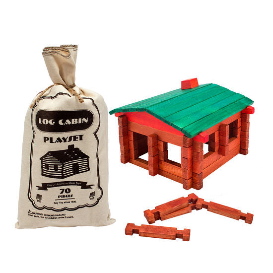 Roy Toy Log Cabin Pouch (79 pieces)