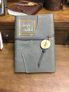 Large Leather Word Journal with Recycled Paper
