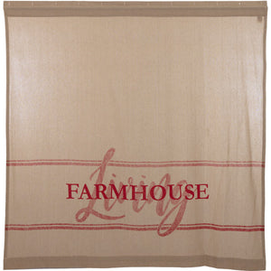 Sawyer Mill Red Farmhouse Living Shower Curtain