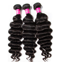 Raw Indian/Brazilian/Malaysian/Cambodian loose deep wavy virgin /remy human hair 3 bundles