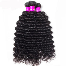 Raw Indian/Brazilian/Malaysian/Cambodian deep wave virgin /remy human hair 3 bundles