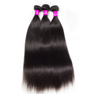 Raw Indian/Brazilian/Malaysian/Cambodian straight virgin /remy human hair 3 bundles