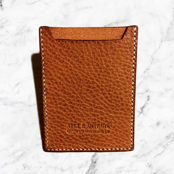 Natural Leather Business Card Holder