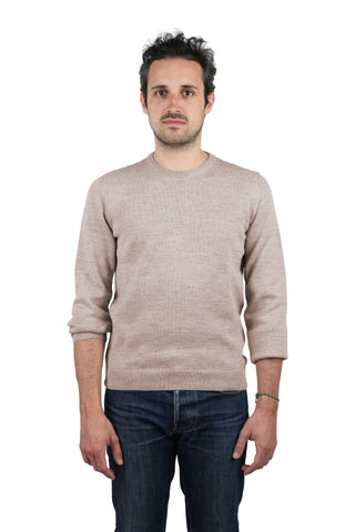 Col Rond - Beige - Homme
