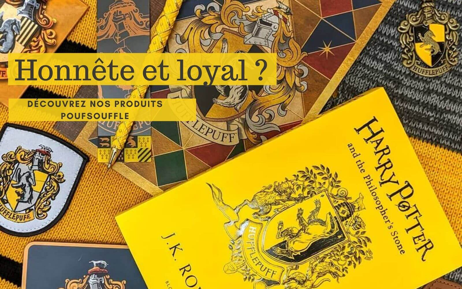 produits poufsouffle harry potter
