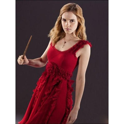 COLLIER CRISTAL ROUGE D'HERMIONE ARGENT - HARRY POTTER