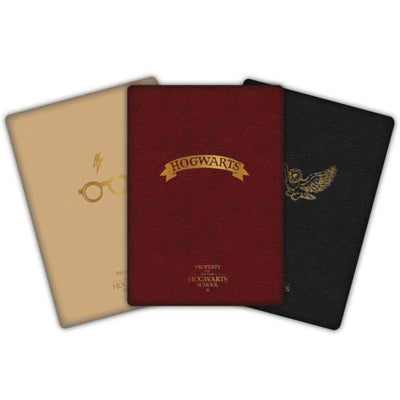 LOT 3 PETITS CARNETS (HARRY, POUDLARD & HEDWIGE) - HARRY POTTER - la boutique du sorcier