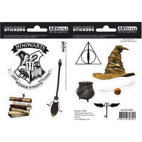 LOT DE 8 STICKERS / AUTOCOLLANTS - HARRY POTTER - la boutique du sorcier