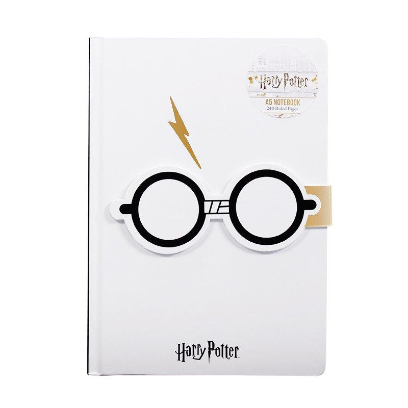 CARNET A5 LUNETTES HARRY POTTER & ECLAIR- HARRY POTTER