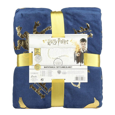 PLAID COUVERTURE POLAIRE POUDLARD 130 X 170 CM - HARRY POTTER - la boutique du sorcier