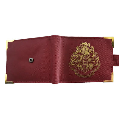 PORTEFEUILLE POUDLARD PREMIUM ROUGE & OR - HARRY POTTER - la boutique du sorcier