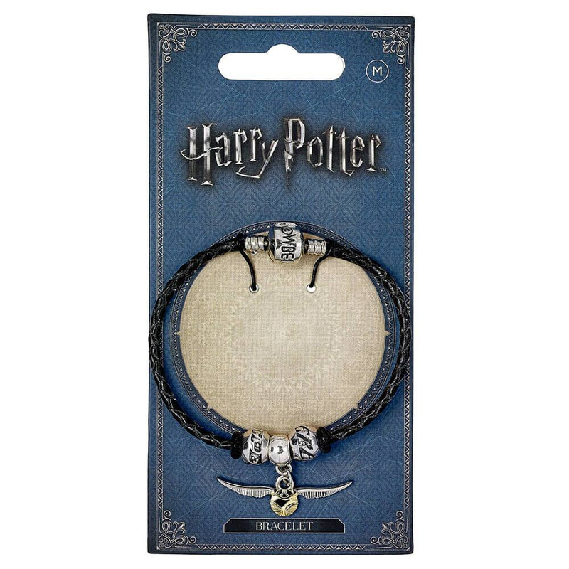 LOT BRACELET + 3 CHARMS SLIDERS HARRY POTTER QUIDDITCH (VIF D'OR, SEEKER, KEEPER) - HARRY POTTER