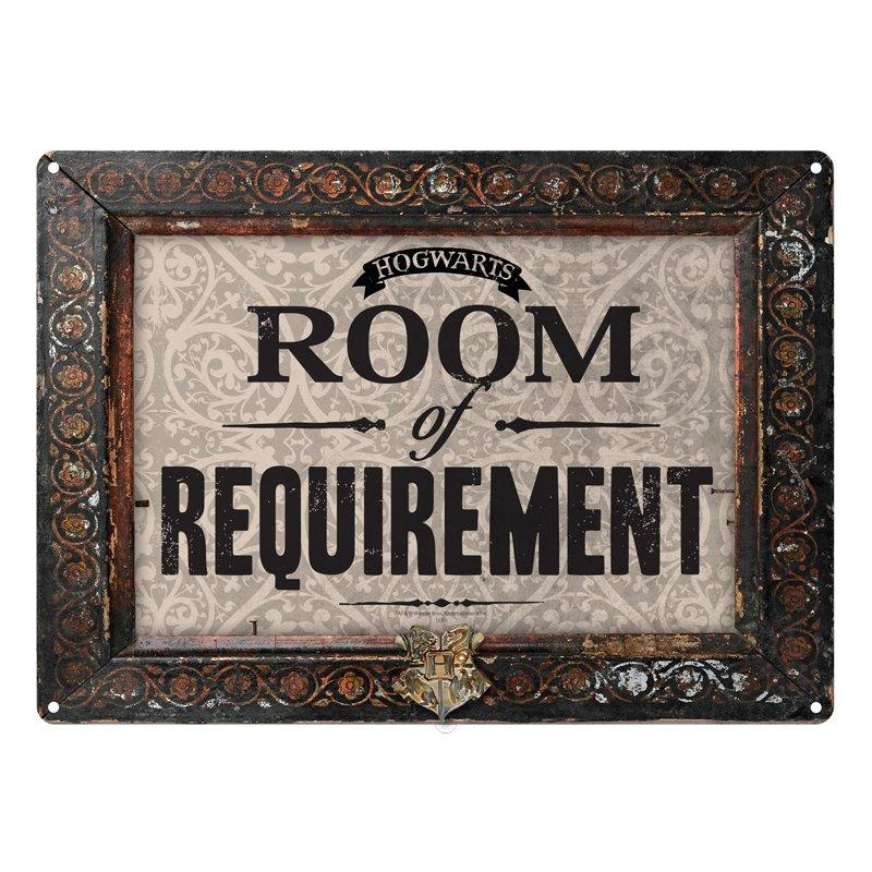 PLAQUE MÉTALLIQUE SALLE SUR DEMANDE (ROOM OF REQUIREMENTS) 21 x 15 cm - HARRY POTTER