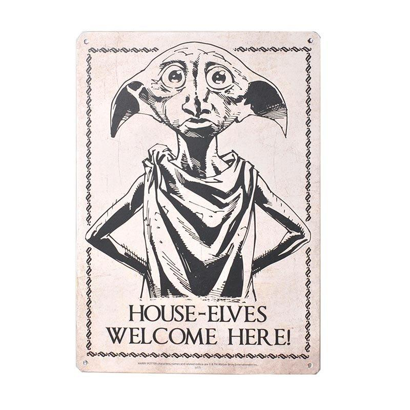 PLAQUE MÉTALLIQUE DOBBY 21 x 15 cm - HARRY POTTER