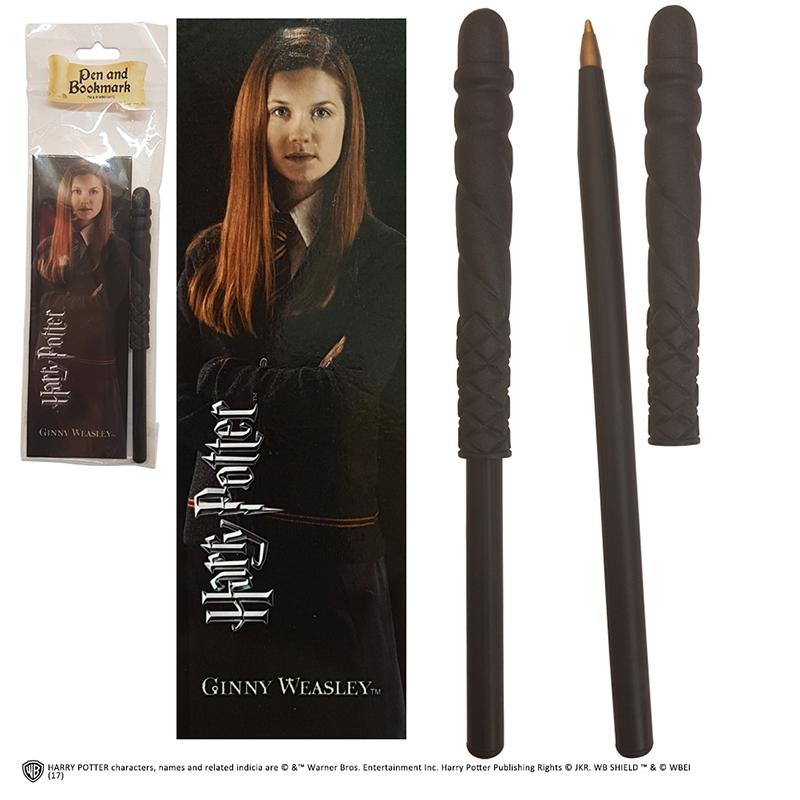 STYLO BAGUETTE & MARQUE-PAGE GINNY WEASLEY - HARRY POTTER