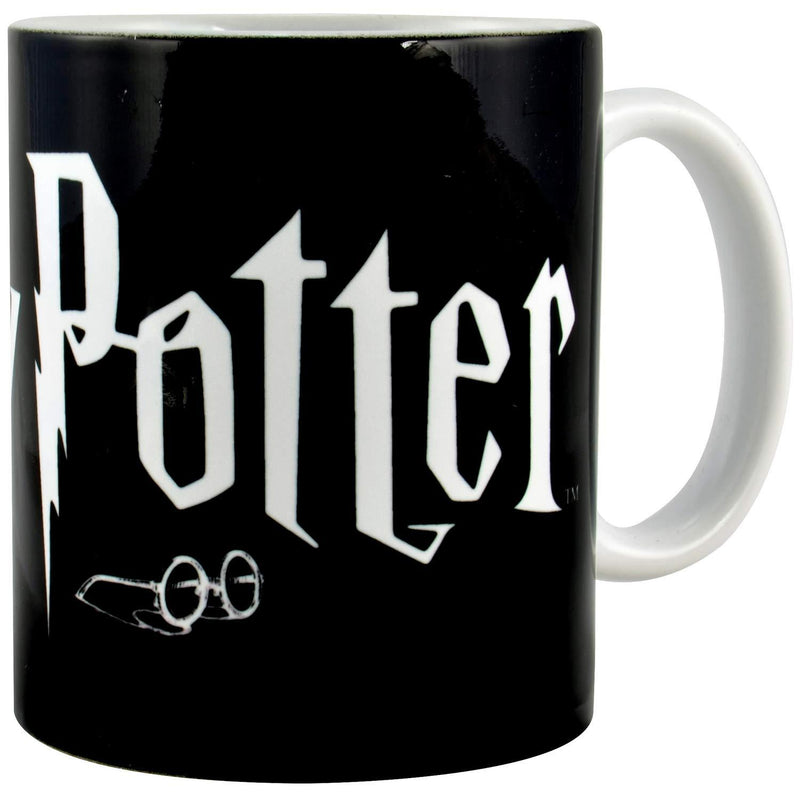 MUG NOIR LOGO HARRY POTTER (320 mL) - HARRY POTTER
