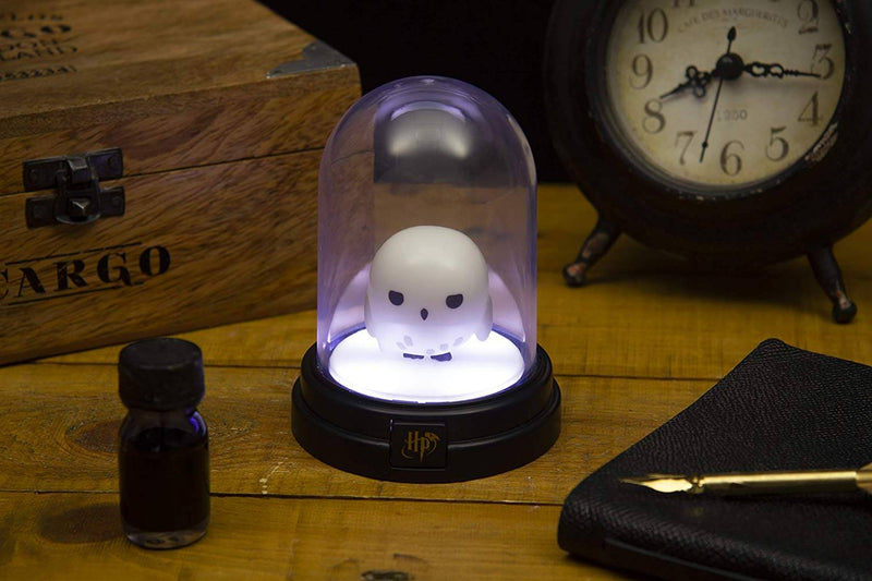 MINI LAMPE SOUS CLOCHE HEDWIGE 13CM (Style Chibi) - HARRY POTTER