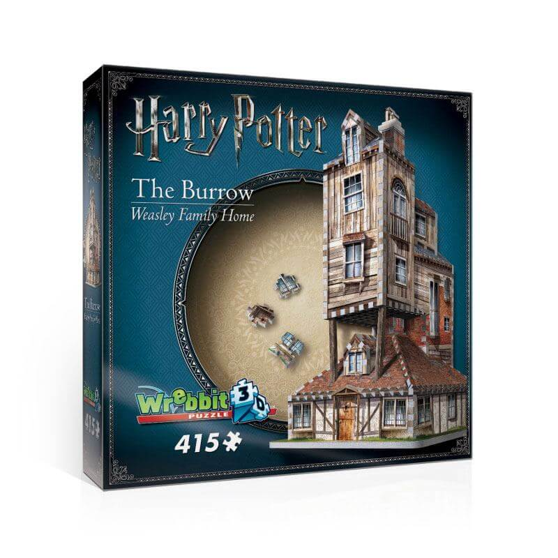 "Puzzle 3d ""le terrier - (the burrow)"" maison de la famille weasley - 415 pcs - harry potter"