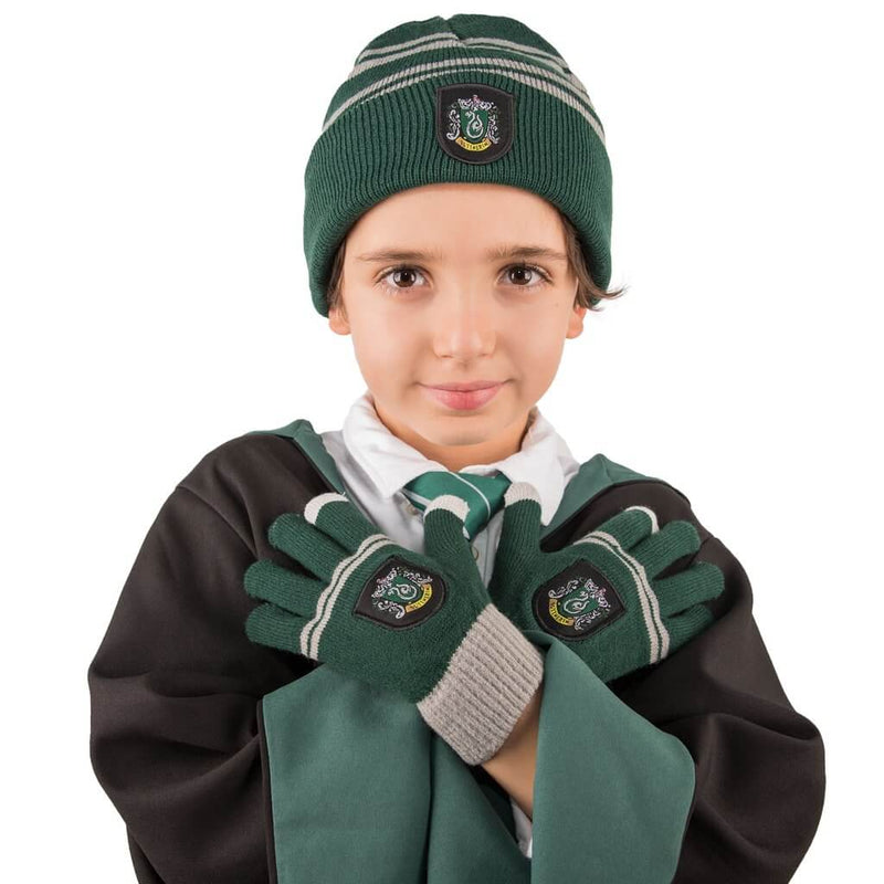 LOT BONNET ET GANTS SERPENTARD TACTILES POUR ENFANT - HARRY POTTER