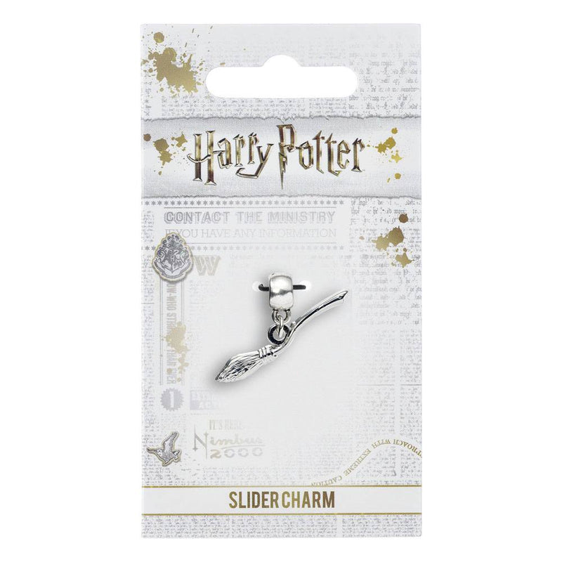 CHARM BRELOQUE PLAQUEE ARGENT NIMBUS 2000 - HARRY POTTER