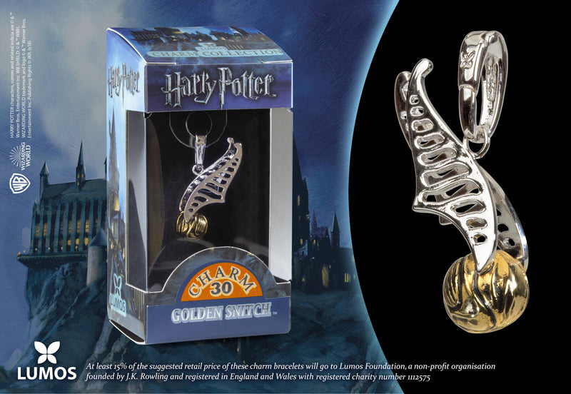 CHARM LUMOS VIF D'OR - HARRY POTTER