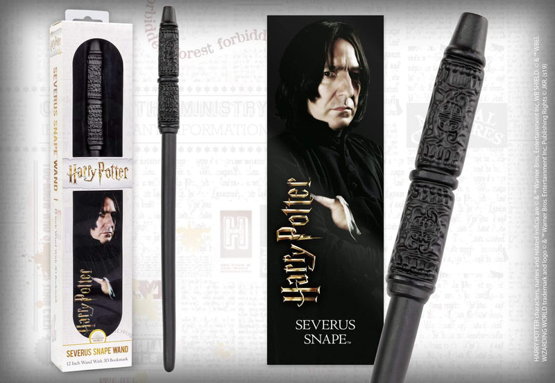 BAGUETTE MAGIQUE SEVERUS ROGUE ET MARQUE PAGE 3D SEVERUS ROGUE - HARRY POTTER la  boutique du sorcier