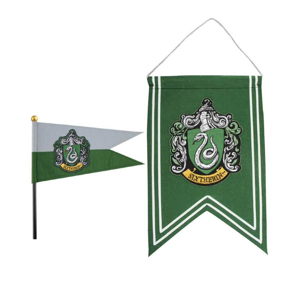 SET DRAPEAU & BANNIÈRE SERPENTARD - HARRY POTTER