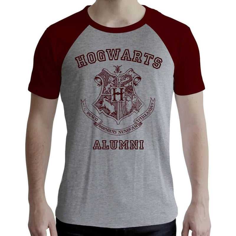 T-SHIRT ALUMNI POUDLARD GRIS ET ROUGE (HOMME) - HARRY POTTER