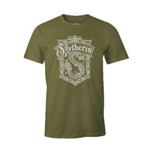 T-SHIRT BLASON SERPENTARD - HARRY POTTER