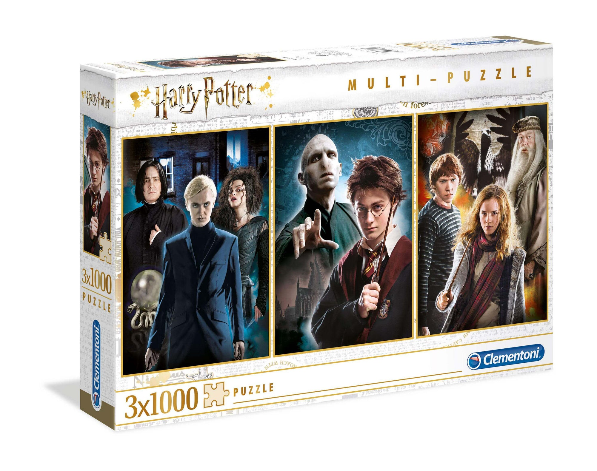 LOT 3 PUZZLES PERSONNAGES - HARRY POTTER