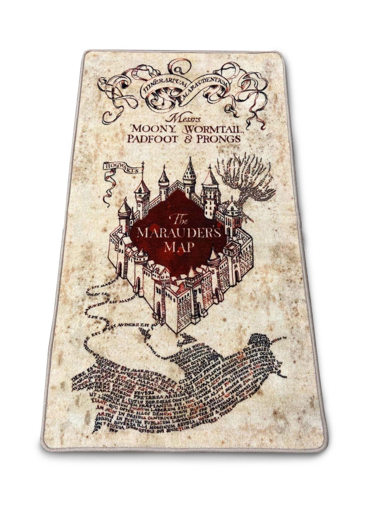 TAPIS CARTE DU MARAUDEUR (76 X 133 cm) - HARRY POTTER - la boutique du sorcier