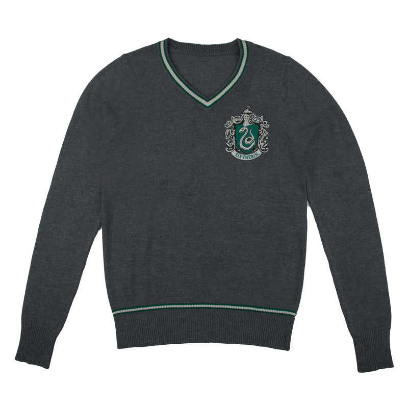 PULL SERPENTARD AVEC ÉCUSSON BRODÉ - HARRY POTTER la boutique du sorcier