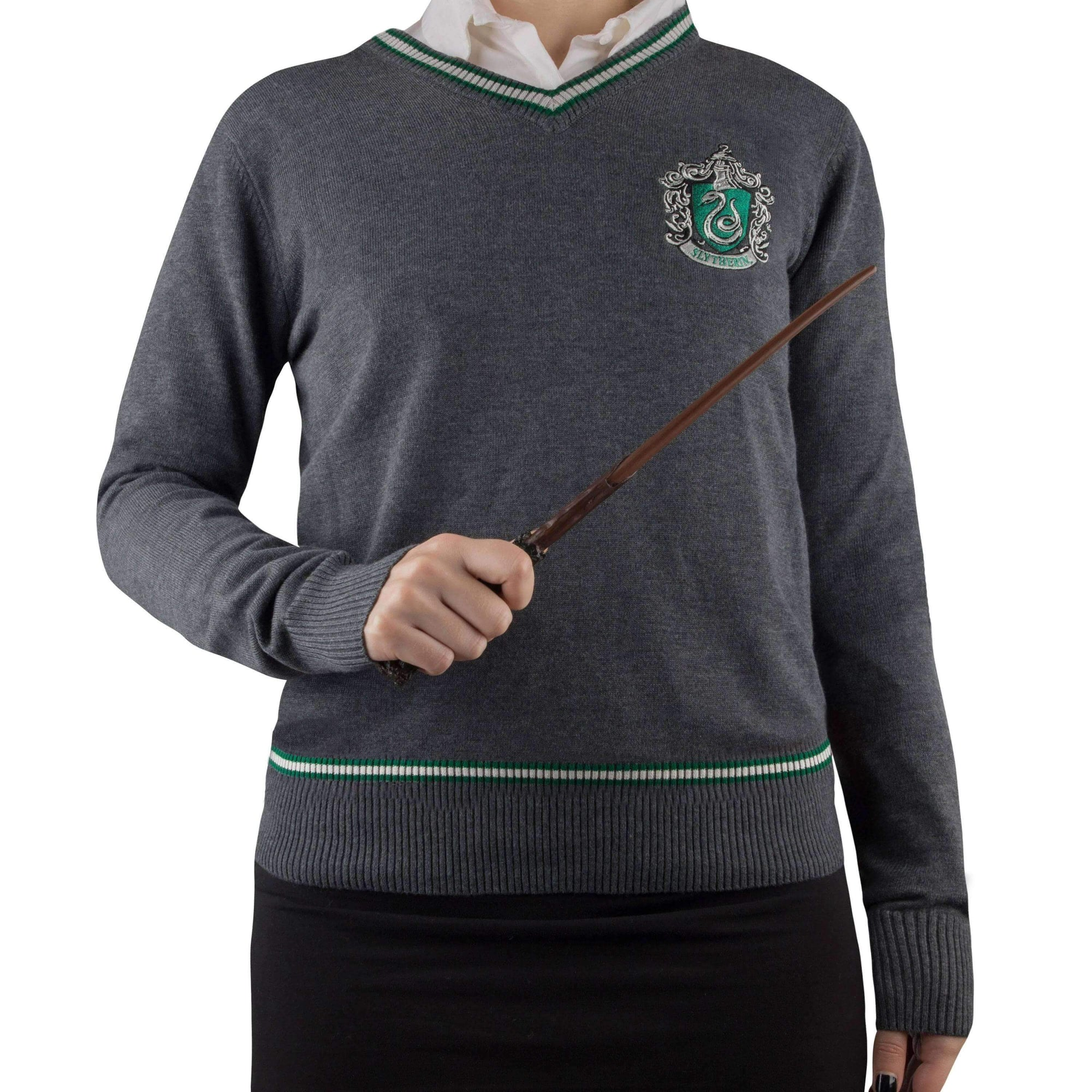 Pull serpentard avec écusson brodé - harry potter