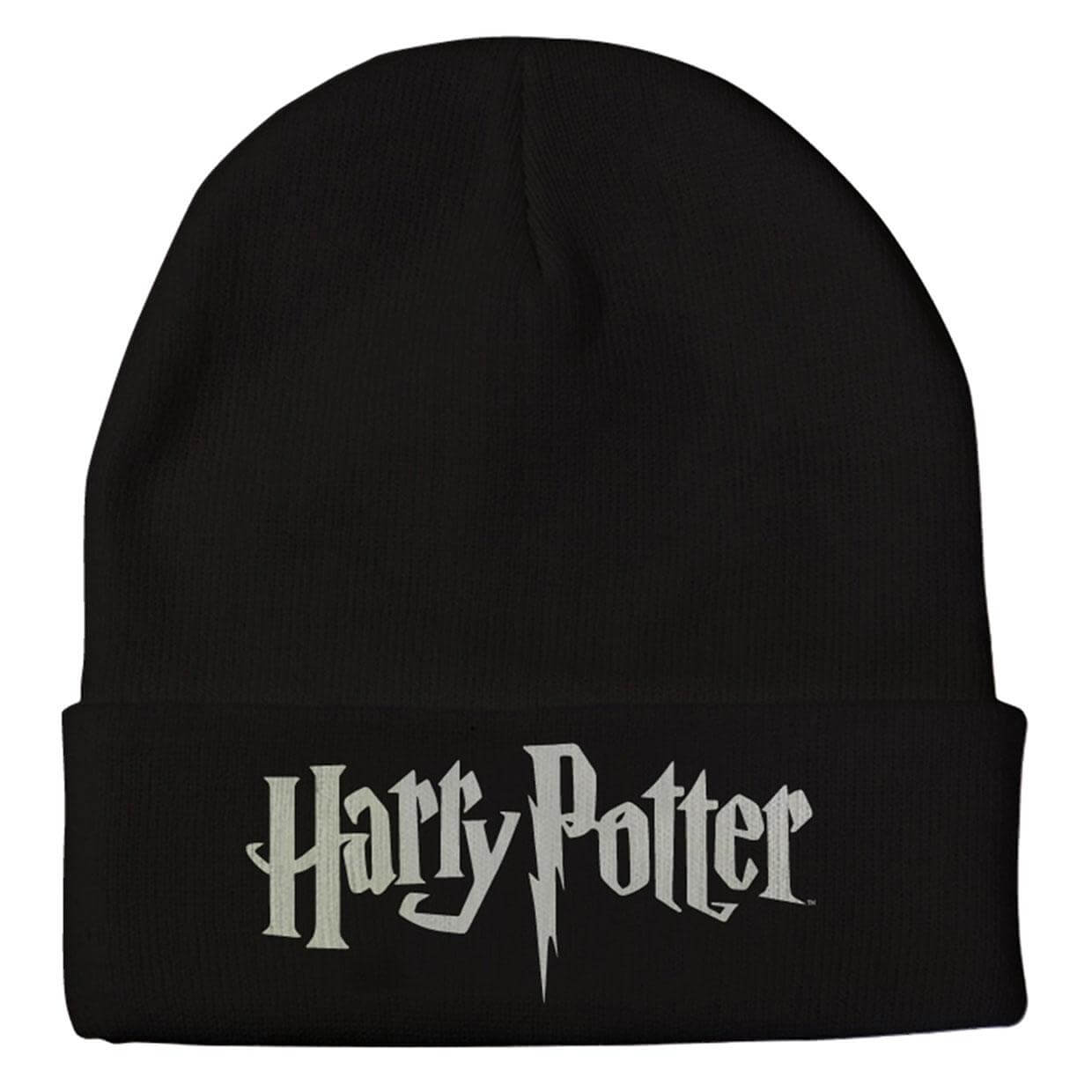 bonnet harry potter noir logo boutique sorcier