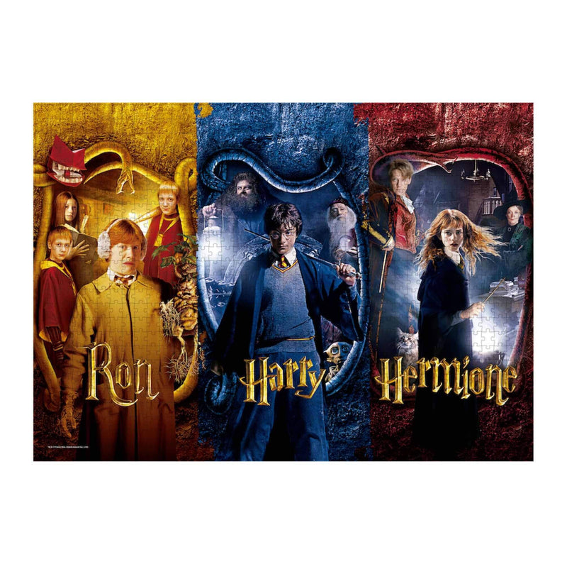 PUZZLE HARRY POTTER, RON WEASLEY & HERMIONE GRANGER (1000 PIÈCES) - HARRY POTTER - la boutique du sorcier
