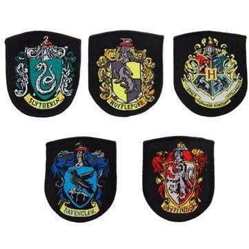 LOT DE 5 RÉPLIQUES ÉCUSSONS POUDLARD - HARRY POTTER