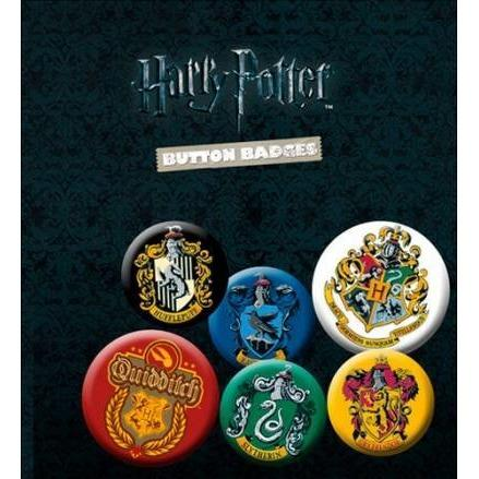 LOT DE 6 BADGES MAISON - HARRY POTTER