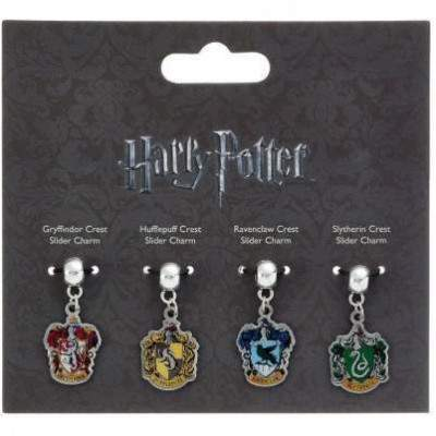 LOTS DE 4 CHARMS MAISON SLIDER CHARM - HARRY POTTER