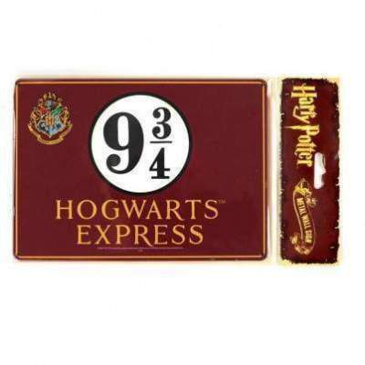 PLAQUE MÉTALLIQUE POUDLARD EXPRESS VOIE 9 3/4 - HARRY POTTER La Boutique du Sorcier - Wizard Shop