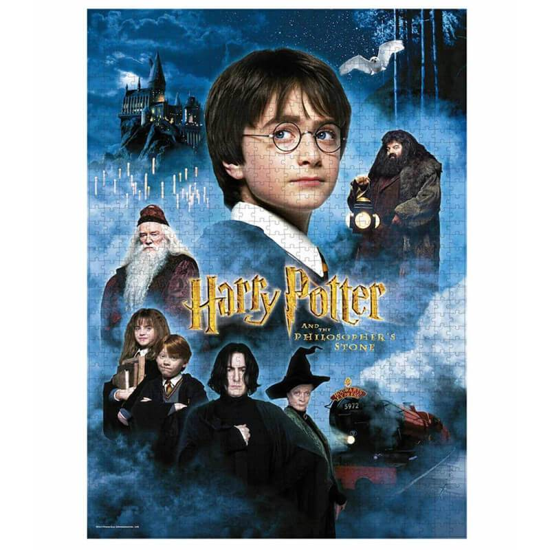 PUZZLE AFFICHE HARRY POTTER ET LA PIERRE PHILOSOPHALE (1000 pièces) - HARRY POTTER