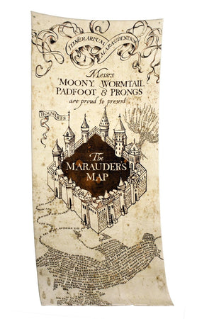 SERVIETTE DE BAIN CARTE DU MARAUDEUR - HARRY POTTER