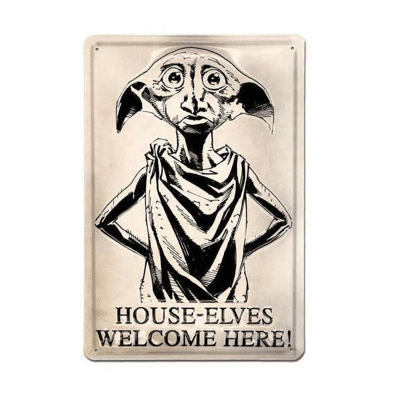 PLAQUE MÉTALLIQUE 3D DOBBY 20X30 CM - HARRY POTTER