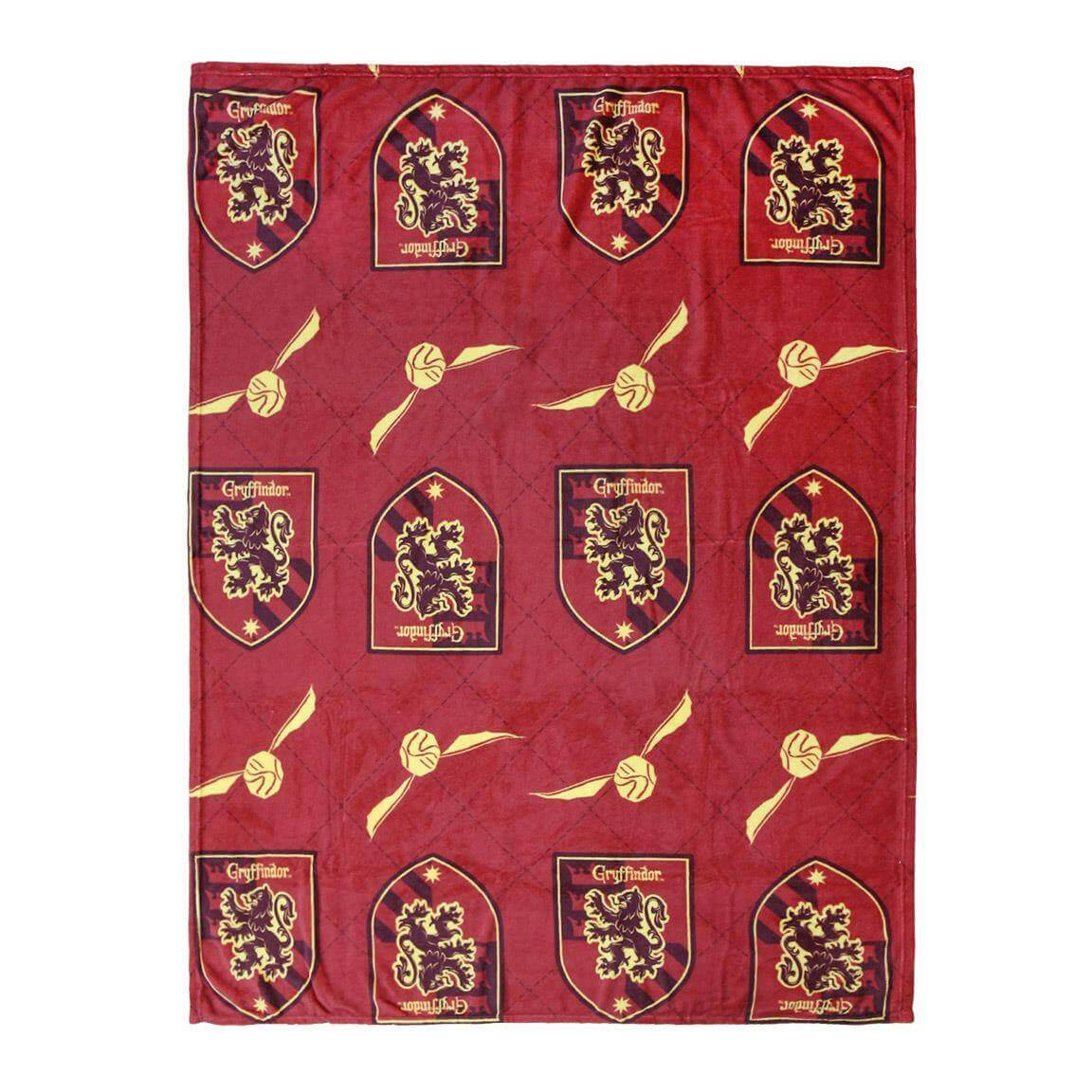 PLAID COUVERTURE POLAIRE GRYFFONDOR VIF D'OR 120 X 160 CM - HARRY POTTER