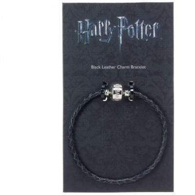 BRACELET CUIR NOIR SLIDER CHARM - HARRY POTTER